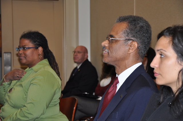 Don Denard listens during a Feb. 18, 2014 Decatur City Commission meeting. File Photo by: Dan Whisenhunt