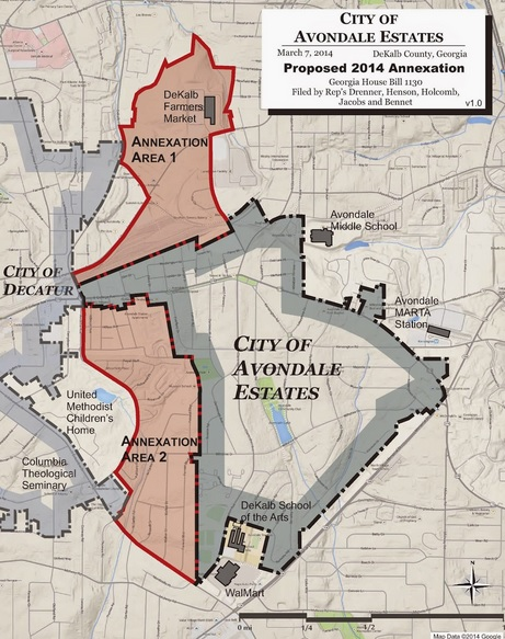 Avondale Estates current annexation plan. Source: City of Tucker Initiative