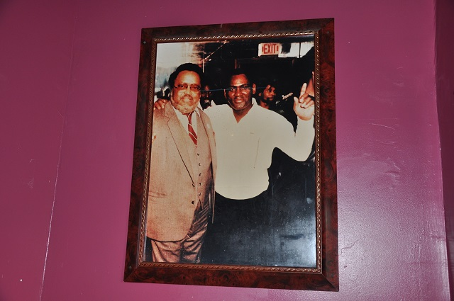 A picture of Hosea Williams, left, and Franklin Morris, right, that hangs in the Morris' Restaurant and Lounge in Kirkwood.