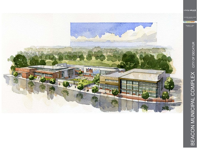An artist's rendering of the Beacon Municipal Center. Photo obtained via TheDecaturMinute.com