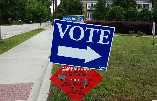 Photo from the May 20 primary, courtesy of Dena Mellick