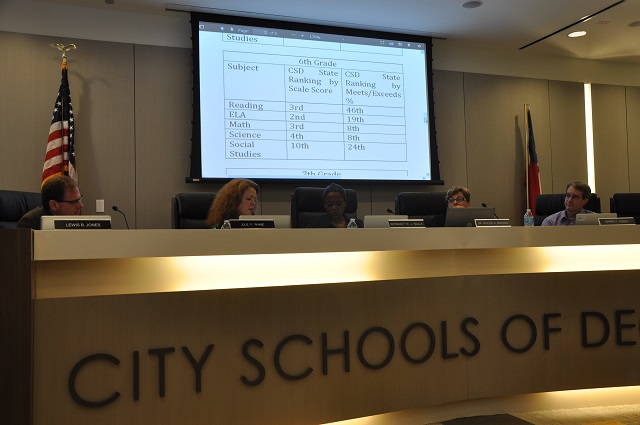 City Schools of Decatur Board of Education during its July 8 meeting. Photo by Dan Whisenhunt