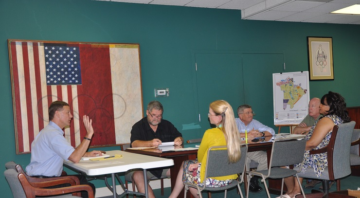 Avondale Estates City Commissioners held their regular work session on Sept. 17, 2014. Photo by Dan Whisenhunt