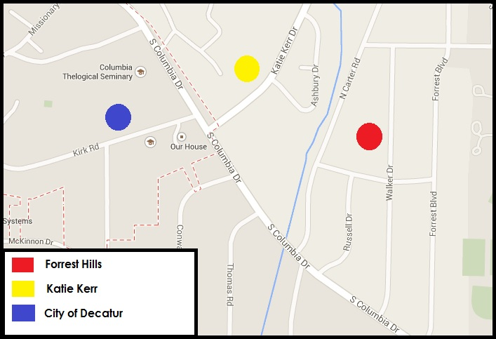 A map showing neighborhoods included in Avondale's annexation map.