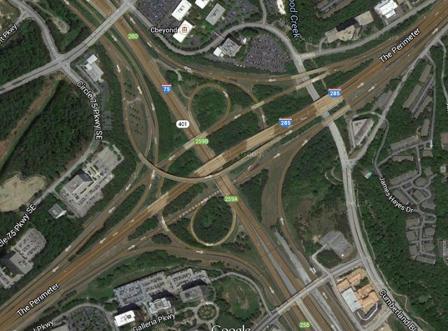 The Cobb Cloverleaf. Source: Google Maps