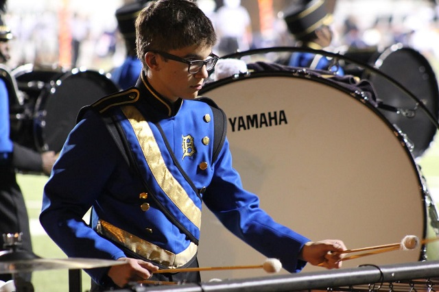 A DHS band member plays the marimba. Photo submitted to Decaturish